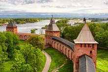 Old Towers Of Novgorod Kremlin...
