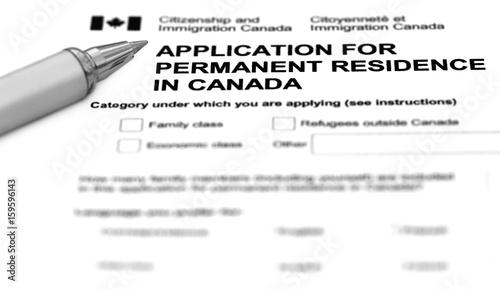 Fotografie, Obraz  Visa application form filling