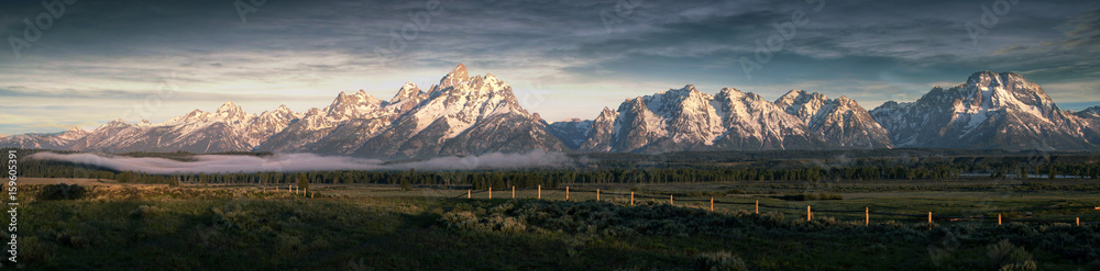Fototapety, obrazy: Morning at the Grand Tetons