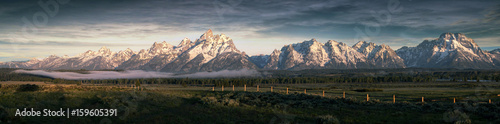 Foto op Plexiglas Panoramafoto s Morning at the Grand Tetons