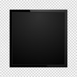 Modern square TV screen, led type, lcd blank isolated. Black monitor display mockup on a transparent background