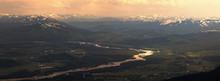 Mountain River At Sunrise