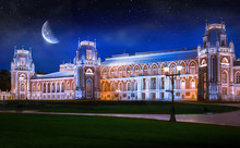 Night View Of Tsaritsyno Palace In Moscow. Fantasy.