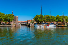 Sailships Moored In Enkhuizen Netherlands