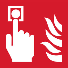 ISO 7010 F005 Fire Alarm Call Point