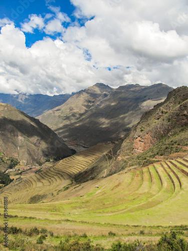 Fotografie, Obraz  Landscape of Pisaq, in the Sacred Valley of the Incas, Peru