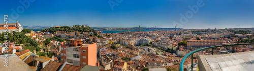 Spoed Foto op Canvas Palermo view of Lisbon Portugal.