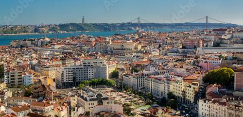 Printed kitchen splashbacks Athens view of Lisbon Portugal.