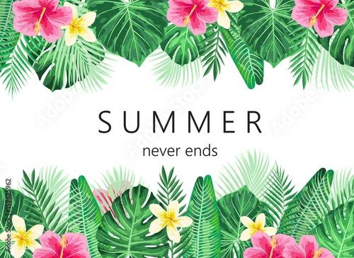 Letnie tło egzotyczne i zwrotnik.