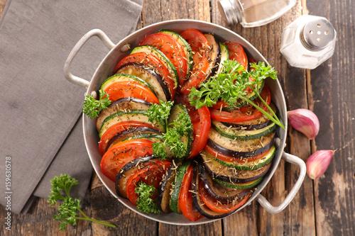 tomato,zucchini and aubergine Wallpaper Mural