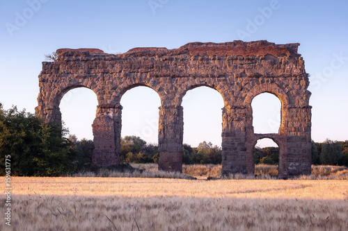 Foto op Aluminium Rudnes Remained in ruins of an ancient Roman aqueduct.