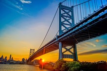 Benjamin Franklin Bridge ,Philadelphia ,Pennsylvania, USA