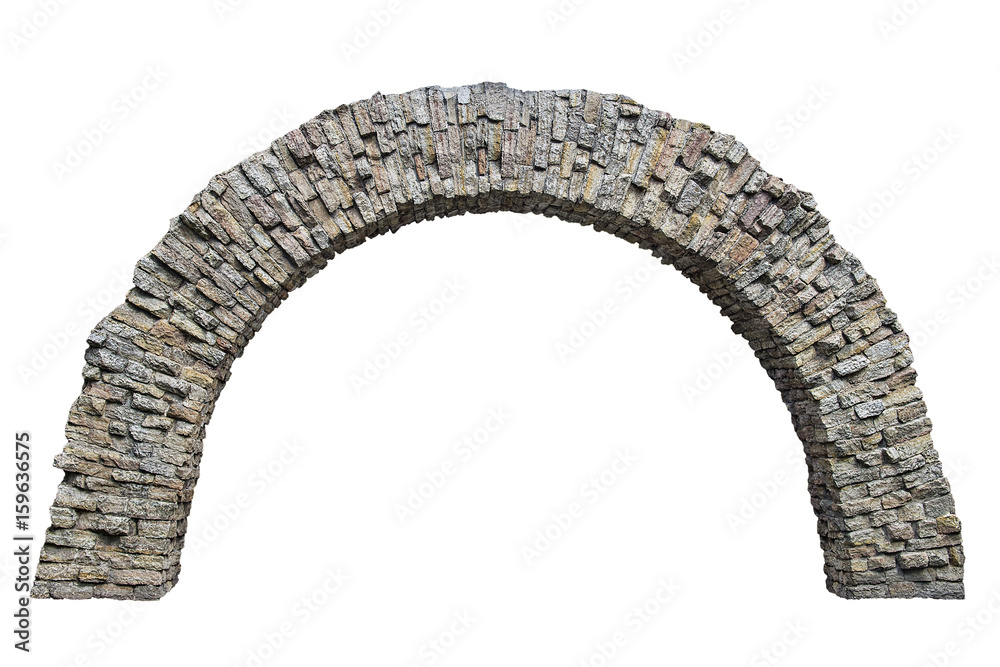 Fototapeta stone arch in the wall isolated on white background