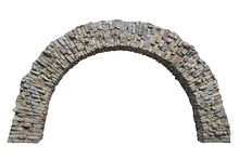 Stone Arch In The Wall Isolate...
