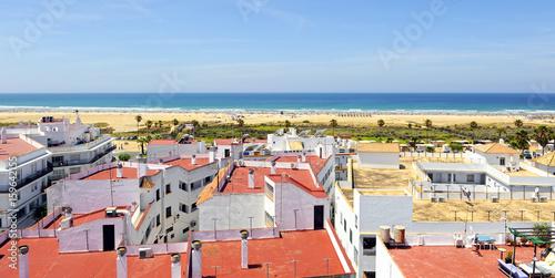 Vista panorámica de la playa de Conil de la Frontera, Costa de la Luz Cádiz, Esp Wallpaper Mural