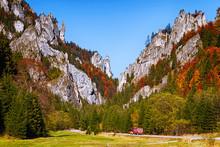 Vratna Valley During Autumn,  Mala Fatra Mountain Range, Slovakia.