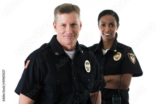Fotografía Police: Officer Partners Standing Together