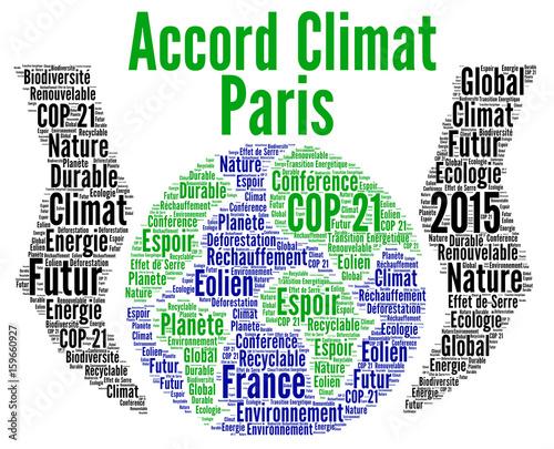 Accord climat Paris Canvas Print