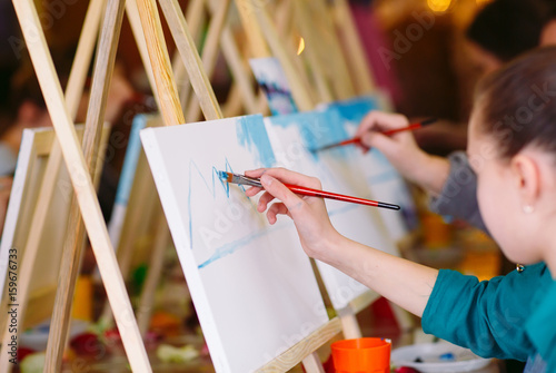 painting at art school. Fototapeta