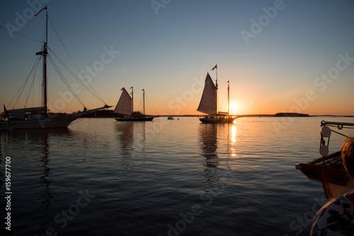Staande foto Zeilen Maine coast
