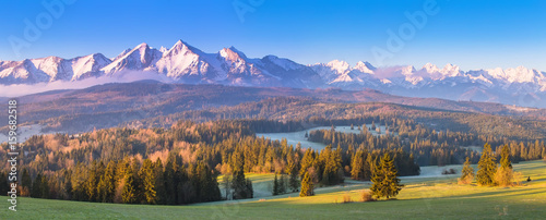 Poster Alpes Summer alpine scene