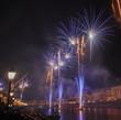 Fireworks during the Luminara Festival