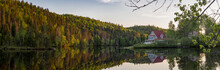 Cottage And Forest Panorama In...