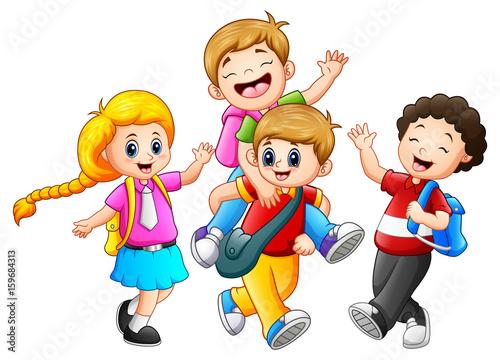 Fotobehang Kids Happy childrens cartoon