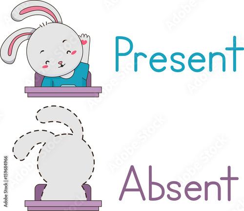 Photo Present Absent Rabbit Mascot Student