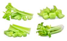Set Of Fresh Celery Isolated O...