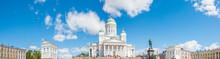 Dom Von Helsinki (Helsingin Tuomiokirkko / Suurkirkko) Und Alexander II Denkmal  Uusimaa Finnland