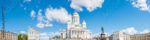 Tableau sur Toile Dom von Helsinki (Helsingin tuomiokirkko / Suurkirkko) und Alexander II Denkmal