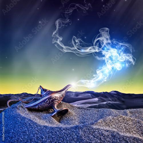 Fotografie, Obraz  magic aladdin lamp