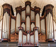 canvas print picture - Silver Organ Pipes