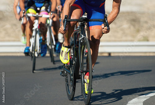 Foto op Plexiglas Fietsen Cycling competition,cyclist athletes riding a race at high speed