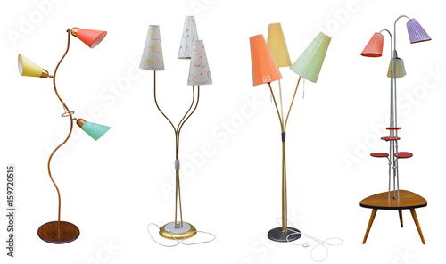 Lampe 60Er alte rockabilly 60er 70er jahre lampe - buy this stock photo and
