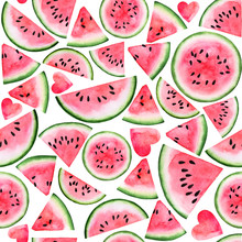Red Pink Watermelon Slice And ...