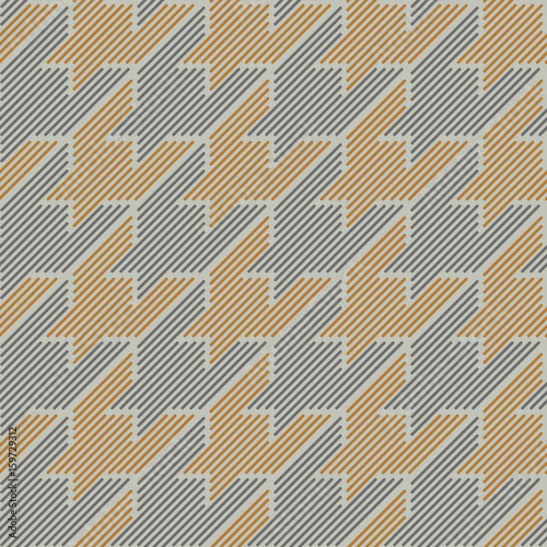 Photo  Houndstooth classical seamless pattern.
