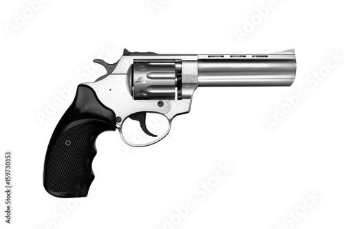 Fotografia Silver gun pistol isolated on white
