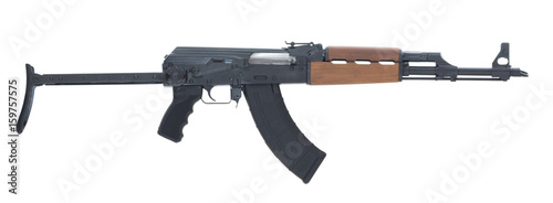 Photo AK 47 Isolated on White Background Right