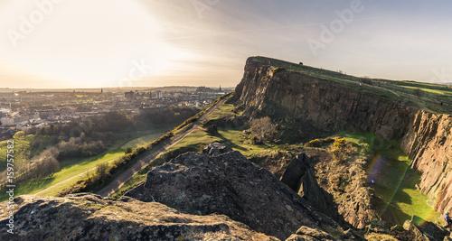 Ausblick vom Arthurs Seat auf Edinburgh Canvas Print