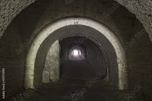 Poster Ruine Llight in the end of a tunnel