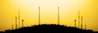 Leinwanddruck Bild - Radio Towers for Transmission Trasnmitting Signals Cell Phone TV