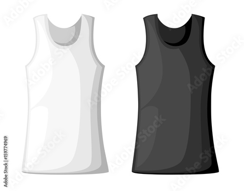 Vector illustration with realistic male shirt template womans vector illustration with realistic male shirt template womans white sleeveless tank top in front and maxwellsz