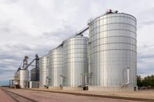 Round Metal Grain Elevator Bins
