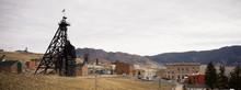 Butte Montana Downtown City Skyline Mine Shaft Courthouse