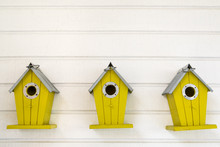 Small Wooden Birdhouse Hanging...