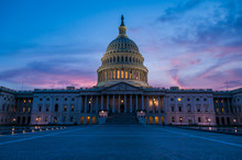 US Capital After Sunset