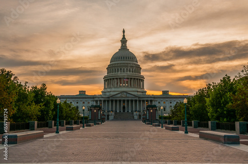 Fotografia, Obraz  US Capital At Sunset
