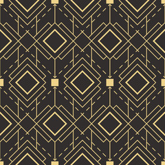 Fototapeta Abstract art deco seamless pattern
